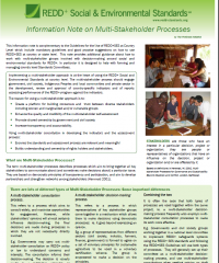 Information Note on Multistakeholder processes