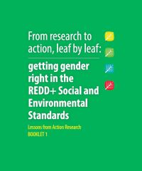 Getting gender right in REDD+ SES - Lessons learned from Action Research & Action Steps for REDD+ National Programmes